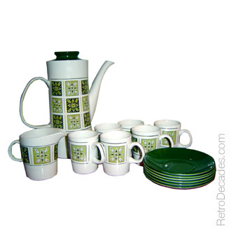 Crown Clarence Ironstone Coffee Set